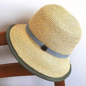Classic cloche straw hat from Goorin Bros.